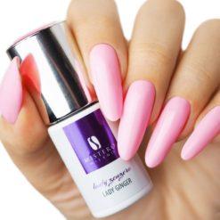 Roze gellak van Mistero Milano, lady ginger voorbeeld nagels